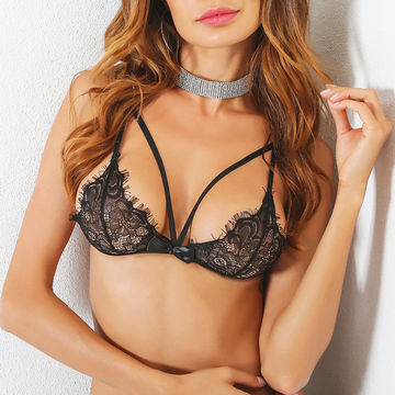 Black Sheer lace Sexy Bra