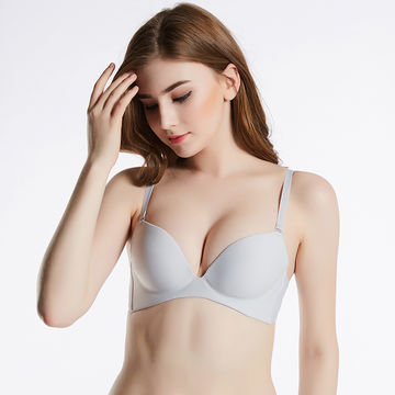 Grey Wireless Push up Bra