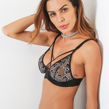 Sexy Black Sheer Lace Bra