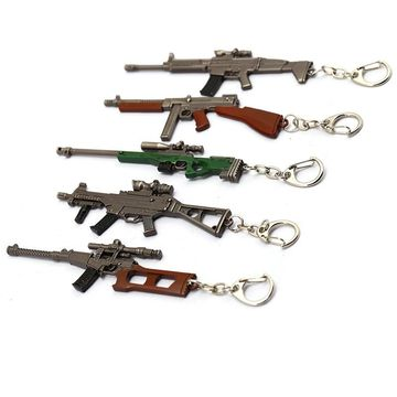 49 Off Pubg Awm Smaller Metal Weapon Replica Keychains