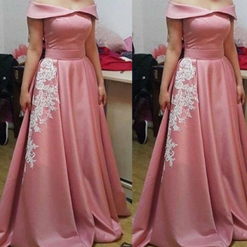 Long Vintage Pink A-line Sleeveless Zipper Prom Dresses 2018 Lace