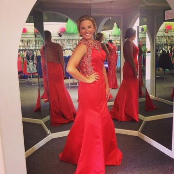 Long Sexy Red Mermaid Sleeveless Backless Beading Prom Dresses 2018 Open Back