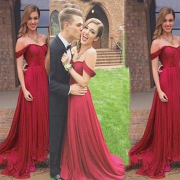 Long Sexy Red A-line Sleeveless Zipper Ruched Prom Dresses 2018 Chiffon