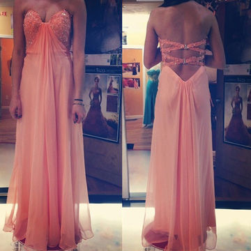 Prom Dresses 2018 Sweetheart Beading A-line Tulle/ Prom Dresses 2018