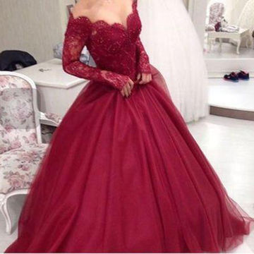 Long prom dresses 2018 red