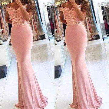 Long Sexy Mermaid Sleeveless Zipper Appliques Prom Dresses 2019 Chiffon