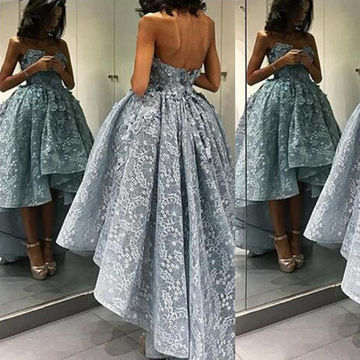 Ball Gown Sweetheart Sleeveless Zipper Appliques Prom Dresses 2018 Lace