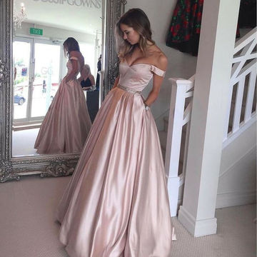 Long Sexy A-line Sweetheart Sleeveless Zipper Prom Dresses Ball Gowns 2018
