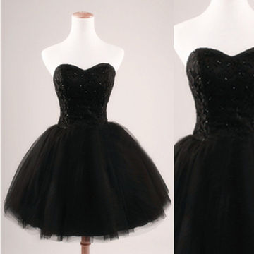 49%OFF Cute Black A-line Sweetheart Sleeveless Corset Sequins Prom ...