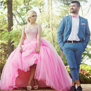 Pink Cute Plus Size Junior Tulle Ball Gown Dresses 2017