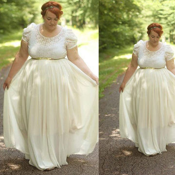 Wedding dress 2018 plus size