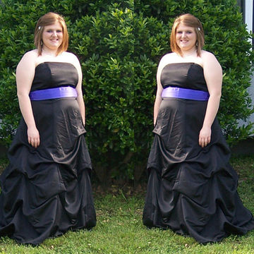 Long Plus Size Junior Black A-line Strapless Sleeveless Zipper Ruffles Prom Dresses 2018