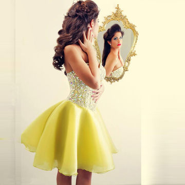 Cute Junior Sweetheart Crystal Tulle Homecoming Dresses 2018