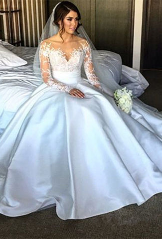 49off white long wedding dresses 2018 ball gown v neck long sleeves we only use unedited photos junglespirit Gallery
