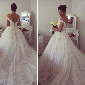 lace ball gown wedding dresses 2018