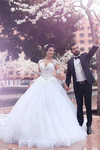 49 Off White Long Wedding Dresses 2019 Ball Gown Long