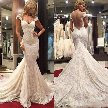 10 best cheap backless wedding dresses free shipping today white long wedding dresses 2018 mermaid open back lace sexy junglespirit Images