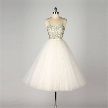 White Short Prom Dresses 2018 A-line Cute