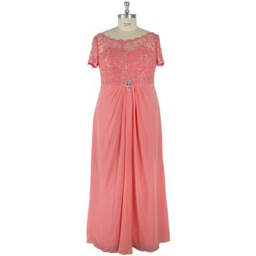 Pink Plus Size Evening/Formal/Prom Dresses 2018
