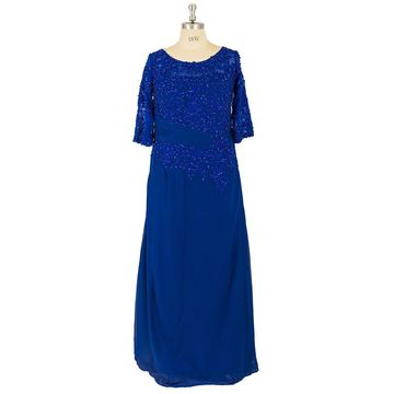 Plus Size Draping Sequins Evening/Formal/Prom Dresses 2018