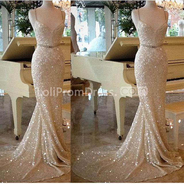 49 Off Gold Sequin Long Prom Dresses 2018 Mermaid