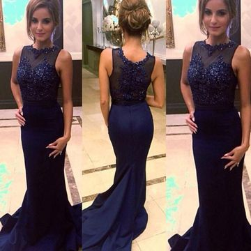 Long Junior Mermaid Sleeveless Zipper Appliques Prom Dresses 2019 Sexy For Short Girls