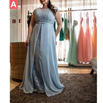 Cheap Long Plus Size A-line Sash/Ribbon Prom Dresses 2018 V-Neck Chiffon Lace