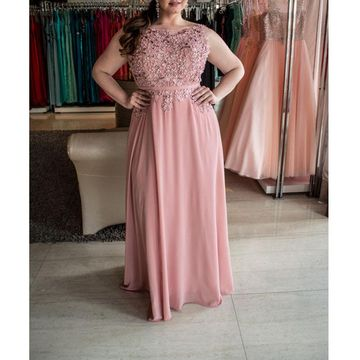 Cheap Long Plus Size Pink A-line Sash/Ribbon Prom Dresses 2018 Sleeveless Chiffon