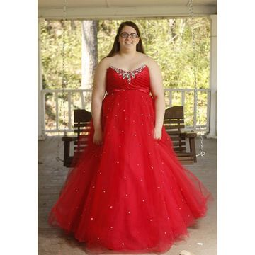 Cheap Long Plus Size Red A-line Sweetheart Sleeveless Zipper Beading Prom Dresses 2018