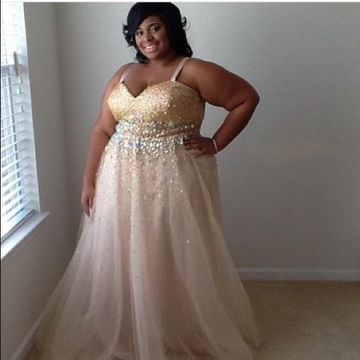 Cheap Long Plus Size African A-line Straps Sleeveless Zipper Beading Prom Dresses 2018