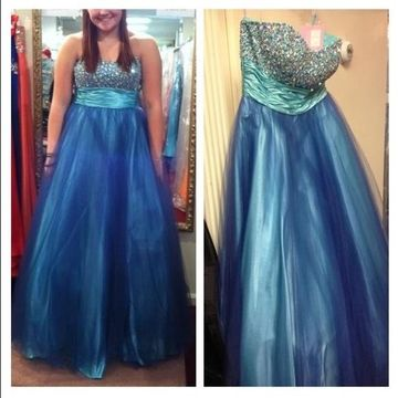 Cheap Long Plus Size Gorgeous Blue A-line Sweetheart Sleeveless Zipper Beading Prom Dresses 2018 Sexy