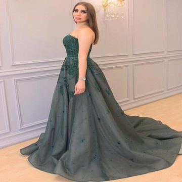 Long Prom Dresses 2018 Ball Gown Sleeveless Plus Size