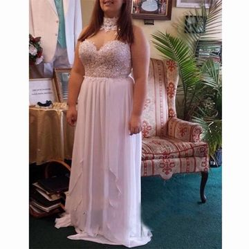 Long Prom Dresses 2018 A-line Sleeveless Plus Size