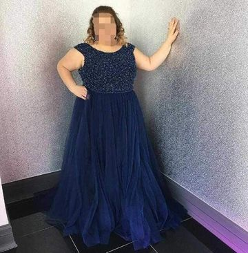Long Prom Dresses 2018 A-line Strapless Sleeveless Plus Size