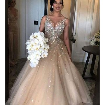 Long Prom Dresses 2018 Ball Gown Sleeveless