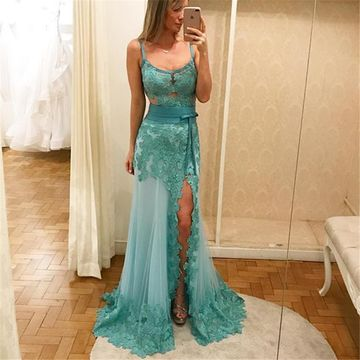 Green Prom Dresses 2018 A-line Sleeveless