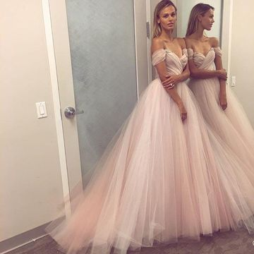 Pink Long Prom Dresses 2019 A-line