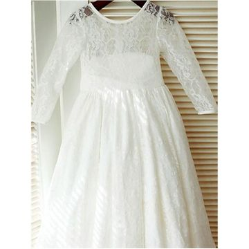 49off white long dresses 2019 a line long sleeves lace flower girl 49off white long dresses 2019 a line long sleeves lace flower girl dress lolipromdress mightylinksfo