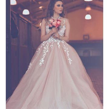 Pink Long Prom Dresses 2018 A-line Sleeveless