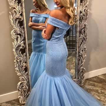 Long Prom Dresses 2018 Mermaid