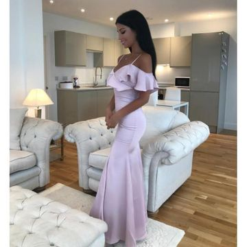 Pink Long Prom Dresses 2018 Mermaid
