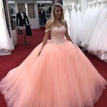 49%OFF Pink Long Prom Dresses 2018 Ball Gown – lolipromdress.com