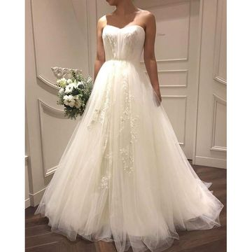 Sweetheart Sleeveless A-line 2018 Wedding Dress