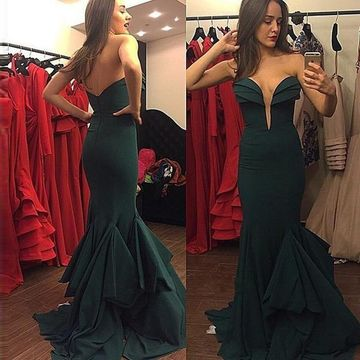 Long Sexy Mermaid Sweetheart Sleeveless Zipper Tiers Prom Dresses 2019 Chiffon