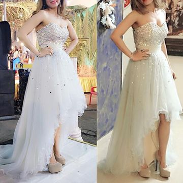 Long Sexy A-line Sweetheart Sleeveless Beading Prom Dresses 2019 For Short Girls