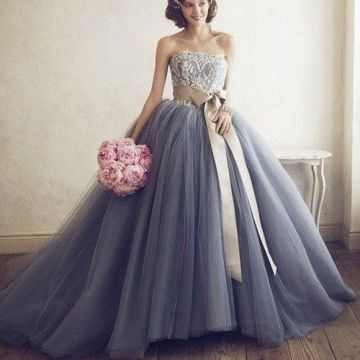 49 Off Long Blue Ball Gown Strapless Sleeveless Appliques Prom