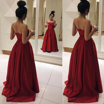 85356aa7d46 49%OFF Long Red A-line Sweetheart Sleeveless Zipper Prom Dresses ...