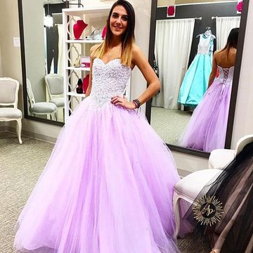 3d3df52897b 49%OFF Long Quinceañera Dresses 2019 Ball Gown Strapless Sleeveless ...