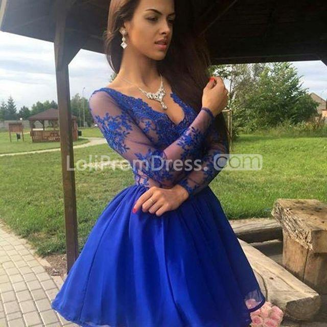 c9d6a55d9d91 49%OFF Cheap Cute A-line Sequins Homecoming Prom Dresses 2019 V-Neck ...