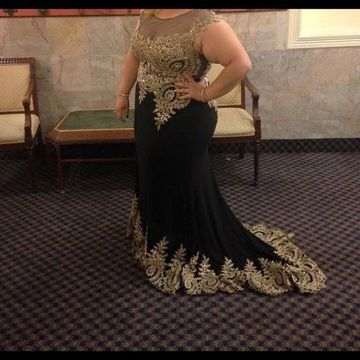 Cheap Long Plus Size Black Mermaid Sleeveless Zipper Appliques Prom Dresses 2019